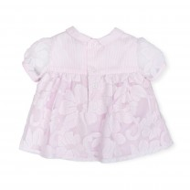 Soft Pink Floral Sheer Dress