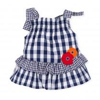 Navy Blue Checkered Dress