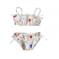 White Girls Double Strap Bikini Top