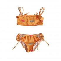 Yellow Girls Watermelon Double Strap Bikini Top
