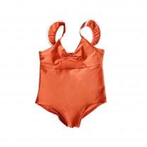 Orange Girls Swimsuit