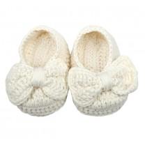 Ivory Ballerina Ribbon Shoes