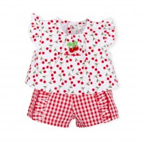 Red Cherry Babygrow