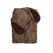 Dark Brown Easter Bunny Blanket