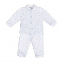 White Patterned Baby Boy Pajamas