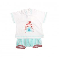 White and Tosca Circus Babygrow