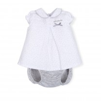 White and Light Grey Baby Dress
