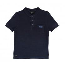 Navy Blue Cotton Polo Shirt