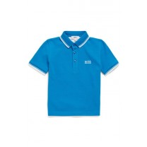 Turquoise Blue Logo Polo Shirt (14-16 years)