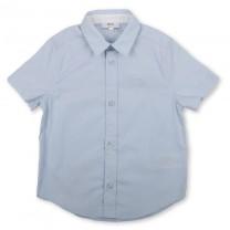 Baby Blue Logo Short Sleeve Formal Shirt