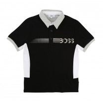 Black and White Sporty Polo Shirt (16 years)