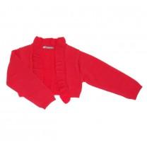 Red Frill Stretchy Bolero