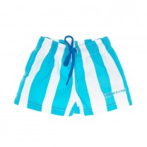 Aquamarine Sun & Stripes Swim Trunks