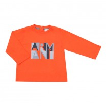 Orange Graphic Logo T-Shirt