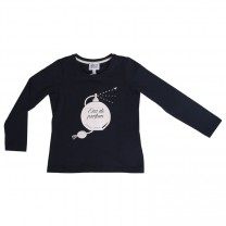 Navy Blue Long Sleeves T-shirt