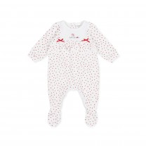 White Patterned Babysuit