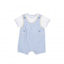 Baby Blue Checkered Shortie