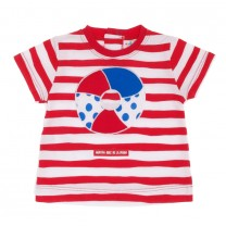 Red Stripes & Ring T-shirt