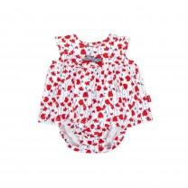 Red All Over Flower Baby Dress