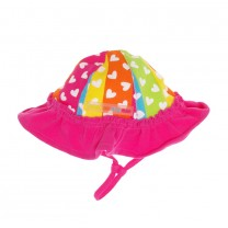Fuchsia & Rainbow Heart Sun Hat