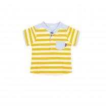AYellow and Blue Stripe Polo Shirt