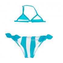 Aquamarine Stripes & Heart Bikini