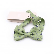 Yellow Logo Pattern Bow Tie