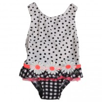White Polka Dot Swimsuit