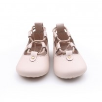 Pink Ballerina Leather Shoes
