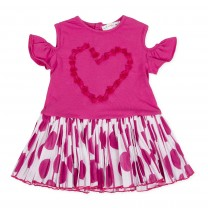 Fuschia Off Shoulder Love Dress