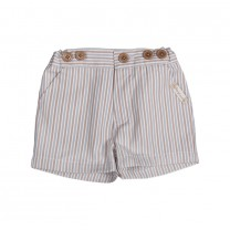 Brown Stripes Shorts Pants