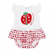 Red Ladybug Baby Dress & Brief