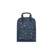 Navy Blue Origami Large Backpack