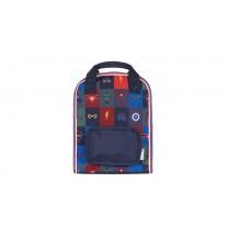Navy Blue Superhero Small Backpack