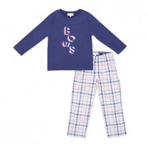 Plaid Blue Pajamas Set (14-16 years)