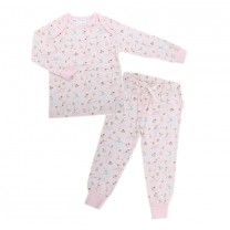 Long Sleeve Pajama Set Ballerina Print