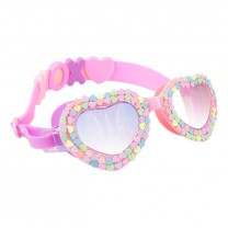 Be Mine Pastel Heart Swim Goggles