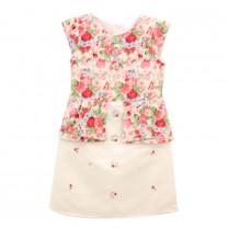 Green Floral & Flower Embellished Dress
