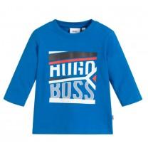 Blue Cottong Logo Long Sleeves T-Shirt