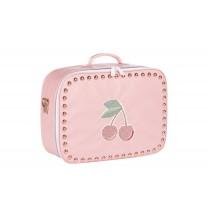 Pink Cherry Studs Suitcase