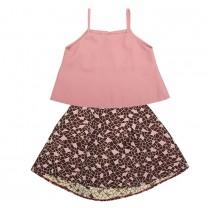 Pink Joy Tank and Skirt Set