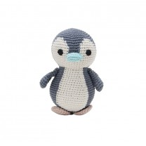 Penguin Crochet Toy with Baby Blue Bill
