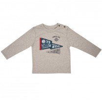 Grey Flag Patch T-Shirt