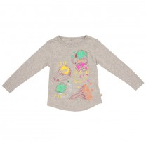 Jewel Print Long T-Shirt