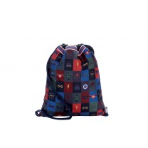 Navy Blue Superhero Drawstring Bag