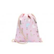Light Pink Alpaca Drawstring Bag
