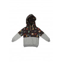 Two Tone Patterned Hoodie