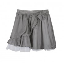 Grey Silk & Tulle Skirt