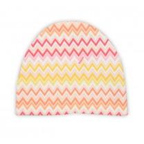 Peach Zigzag Jersey Hat