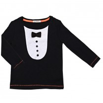 Black Tux Long T-Shirt